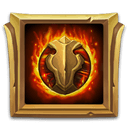 Burning Plate Lv5 - Memberi Enchant Lv5: Burning Plate.